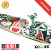 Silverfox Skatebord Satellite Skull 100% Maple 31 cm x 8 cm