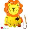 Mainan Kayu Mainan Edukasi Anak Model Papan Jahit 3 Dimensi Singa