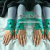 handsock tumbh button / sarung tangan tum button / fingerless