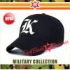 Topi Baseball Raphel bordir Alphabets K forTopi Baseball warna Hitam