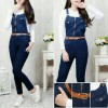 jump jeans zipper bahan jeans wash street fit to L + inner