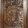 Karya Seni Lukis Ukiran Anggur Jati 60x80cm Finishing Natural