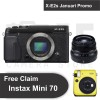 Fujifilm X-E2s + XF 35mm F2 R WR (Black) + Instax mini 70 (by Claim)
