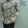 Baju Kemeja batik pria modern slim fit lengan panjang D-163