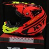 Helm KYT Cross Over KRacing Super Flou K Racing Fullf Face