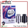 THE TROLL V2 RDA VELODECK AUTHENTIC - BLACK & SS