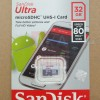 MicroSD Sandisk Ultra 32GB Class 10 80MBPS Micro SD Card 32 GB SDHC
