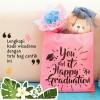 Buket Bunga Flanel Kado Hari Ibu Nama dan Kata Mother Day request 15cm