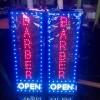Tulisan Lampu Led Sign BARBER OPEN untuk salon & barbershop - MURAH