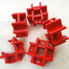 Red HOLDER Education Toy Tic Tac Connector Fastener Cross Holder DIY