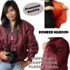 Jaket Bomber Maroon Premium Quality Pria Wanita Grosir Murah Bandung