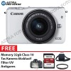 Canon EOS M10 Kit 15-45mm Paket Komplit Murah 32gb-White