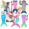 Selimut Mermaid / Ikan Hiu Plush Lembut Impor