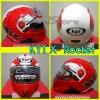 Helm KYT x-Rocket merah putih / helm murah /helm full face