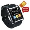 hp jam tangan-jam tangan hp u8 delta hitam-smartwatch