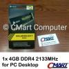Corsair 4GB DDR4 2133 MHz DIMM Memory RAM PC Desktop CMV4GX4M1A2133C15