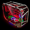 CUBE GAMING SKELETT- Tubing Structure - Tempered Glass Double Side