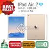 Ipad Air 2 Cellular + Wifi 128gb Gold Garansi Apple