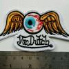Vintage Hot Rod Patch Flying Eyeball Badge Von Dutch Drag Race Bikers