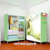07 Music Queen Multifunction Wardrobe with cover lemari pakaian