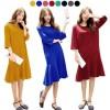 Curros Flare Dress / Baju Terusan Wanita Lengan 7/8