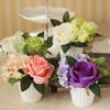Rose With Hydrangea Silk Flower / Bunga Hias