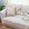 Quilting Sofa Cover Small Pink Flower - 70*70 / Alas Sofa