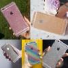 Silicon Casing Anti Crack Gliter Iphone 4 / Iphone 5
