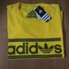 T shirt kaos cotton combed 30s Adidas kuning