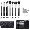 BH Cosmetics Dual Fiber - 9 Piece Brush Set with Black Brush Roll