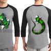 Kaos 3D Umakuka Raglan - IGUANA ( raglan double warna&double print)