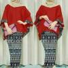 Stelan hijab awkarin songket red