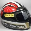 Helm Full BMC JAZZ # 13 white gunmetal red