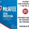 McAFEE Total Protection 2017 - 1 Year for 3 PC - Genuine