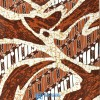 Kain Batik Tulis Abstrak Parang Coklat P016