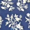 Kain Batik Tulis Kembang Putih Latar Biru