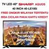 Tv LED SHARP 40