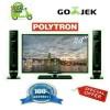 LED TV POLYTRON CINEMAX PLD-24T810+2TOWER SPEAKER