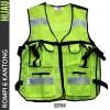 Rompi Jaring 6 Kantong Safety Vest Scotlite Scotlight Hijau Termurah