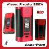 Wismec Predator 228W Red MOD Vape / Vapor - AUTHENTIC & Ready Stock