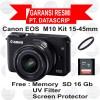 Canon Eos M 10 EFM 15-45 mm Black / EOS M10