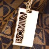 Tas Bonia Drawstring Monogram Coklat Muda Semi Premium AP374