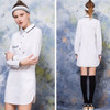 Promo Murah Mini Dress White Beautiful Girl Shirt Lengan Panjang Casua