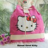 Ransel Serut Kitty kanvas good,real pic