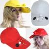 Promo Murah Sun Hat with Solar Power Fan - Kuning