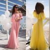 Promo Murah Dress Wanita Sabrina Shoulder Off Elegant Chiffon - S -