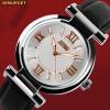 Promo Murah SKMEI Casual Women Leather Strap Watch - 9075CL - Hitam