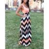 Promo Murah Dress Wanita Motif Wave Sleeveless Dress Size M - Black