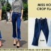 Celana Miss Hotty Crop Flare Cutbray Stretch Jeans Wanita Murah