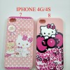 SOFTSHELL PINK HELLOKITTY SPARKLING SWAROVSKY FOR IPHONE 4G